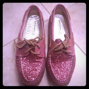 NWOT Sperry pink glitter size 6 shoes